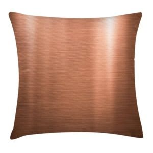 Pillow Case Copper Metal Sheet Cover No Insert